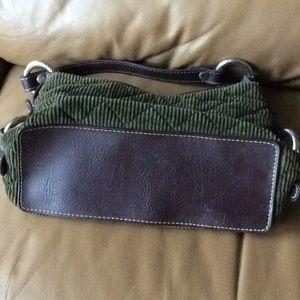 Tommy Hilfiger Bags - Tommy Hilfiger Olive /Brown Corduroy Mini Bag